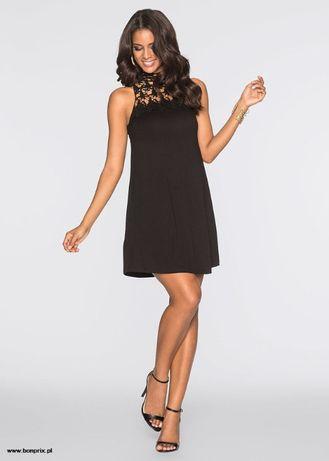 Mała czarna sukienka z koronką BonPrix, rozm. S