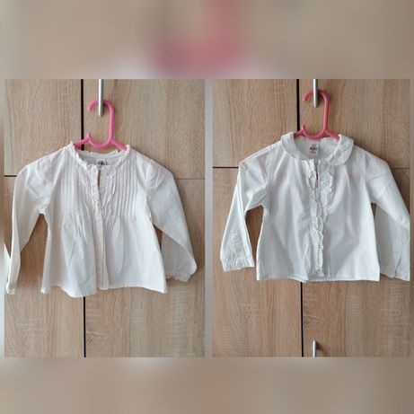 Koszule Zara jak nowe dla dziewczynki 12-18msc