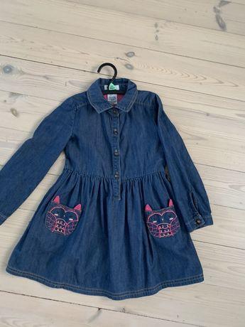 Bobster&Mimi nowa jeansowa sukienka 98/104 nowa z Tk M