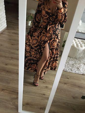 Piękna sukienka maxi boho S