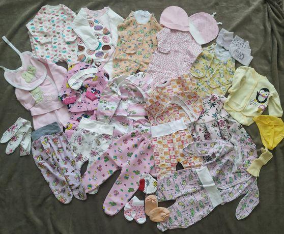 Вещи на девочку 0-3 месяцев