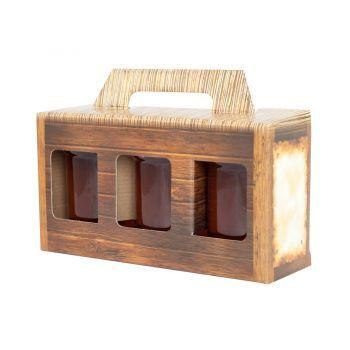 Pudełko na 3 słoiki OZDOBNE 315 ml OKAZJA hit miód