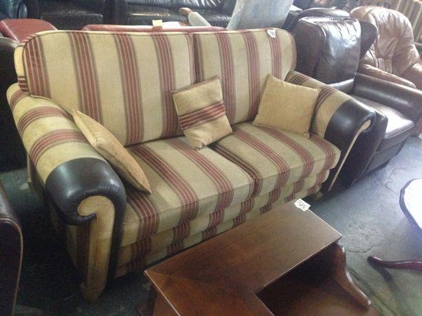 Piękna duża sofa materiałowa wygodna stan idealny holenderska DOWÓZ