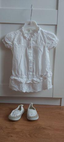 Sukienka sukieneczka tunika ażurowa  benetton baby 62 68 74
