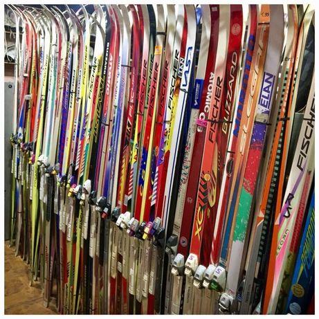 Лыжи беговые,боты,палки б/у и новое из Австрии.
