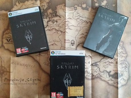 The Elders Scrolls 5 SKYRIM Pudełko Mapa Ść. Dźwiekowa