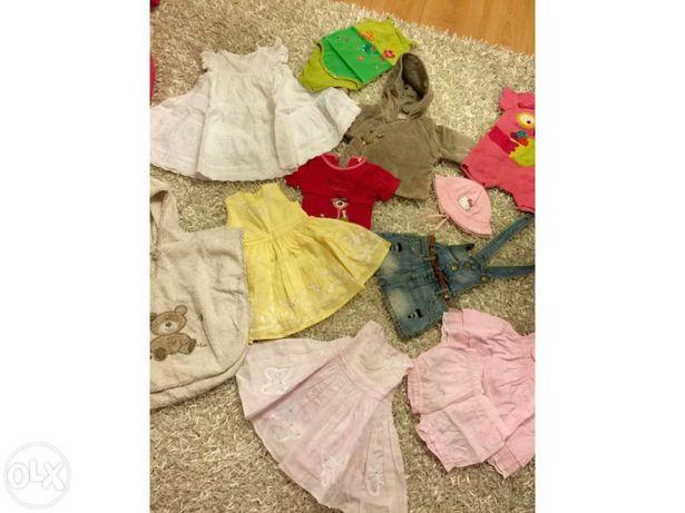 11 peças roupa menina 0-12 meses
