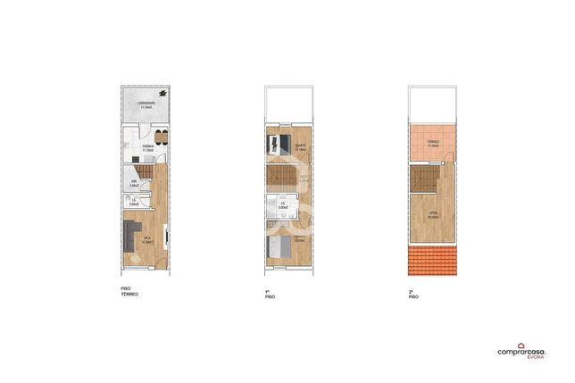 Moradia unifamiliar T2+1, com logradouro, sótão, terraço e garagem | Q