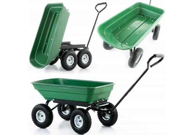 (Kod.PL-WOP01)Садовая тележка транспортная самосвал 350кг