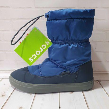 Зимние сапоги 38р w8 Crocs Womens LodgePoint Shiny Pull-on Boot