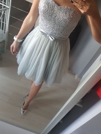 Srebrna sukienka rozm s