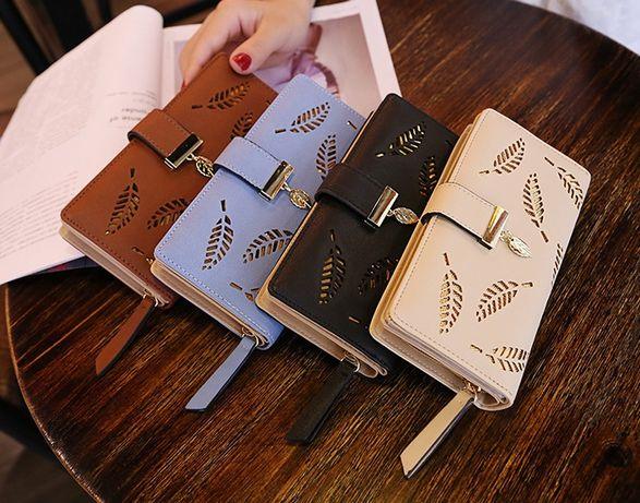 Женский кожаный стильный новый модный кошелек клатч жіночий гаманець