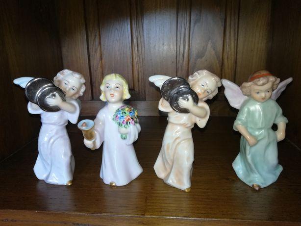 4 anjos da Artibus pintados à mão