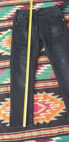 Джинсові штани на флісі