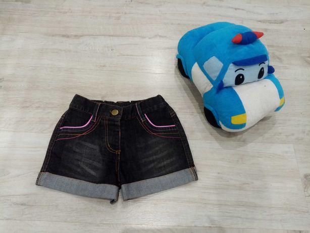 Джинсовые шорты на девочку 5-8 лет