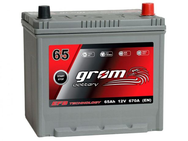 Akumulator Grom Efb Start&stop 65Ah/670A J P+