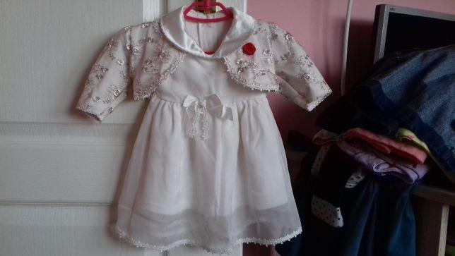 Śliczna sukienka idealna na chrzest-wysyłka gratis