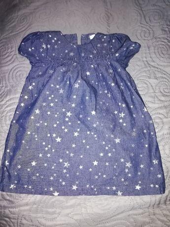 Sukienka jeansowa w gwiazdki