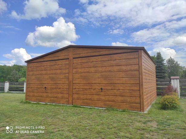 Garaż Blaszany 6x6 6x7 7x7 4x6 Blachodachówka Profil garaze blaszane