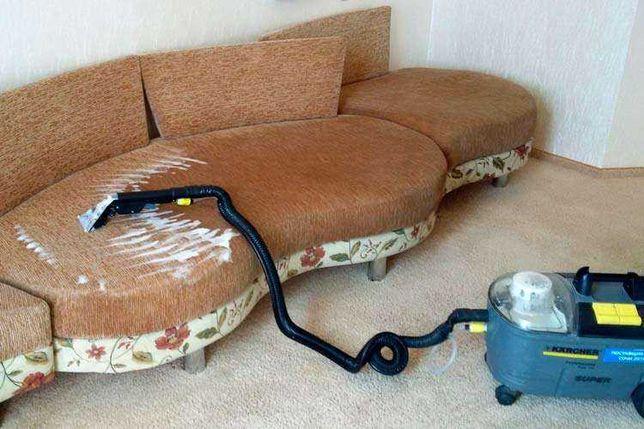 Чистка мягкой мебели, диванов, ковров