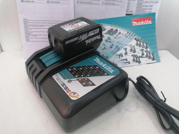 Makita DC18RC szybką ładowarka i bateria 18v 3.0ah NOWY zestaw