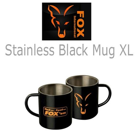 Кружка Fox Stainless Black XL 400ml Mug