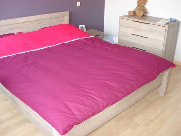 Meble do sypialni: szafa,łóżko 160/200+materac,2 szafki nocne,komoda