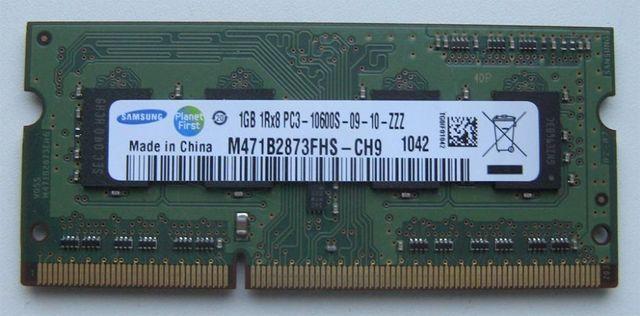 Модуль памяти Samsung SO-DIMM DDR3 10600 1GB для ноутбука