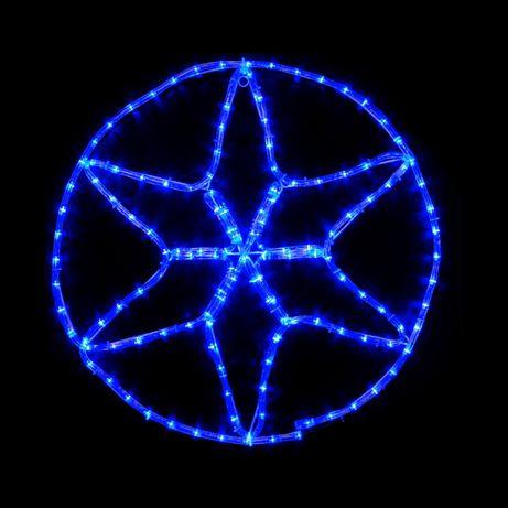 Светодиодная гирлянда DELUX Motif flash Star 60 х 60 см белый IP44 EN