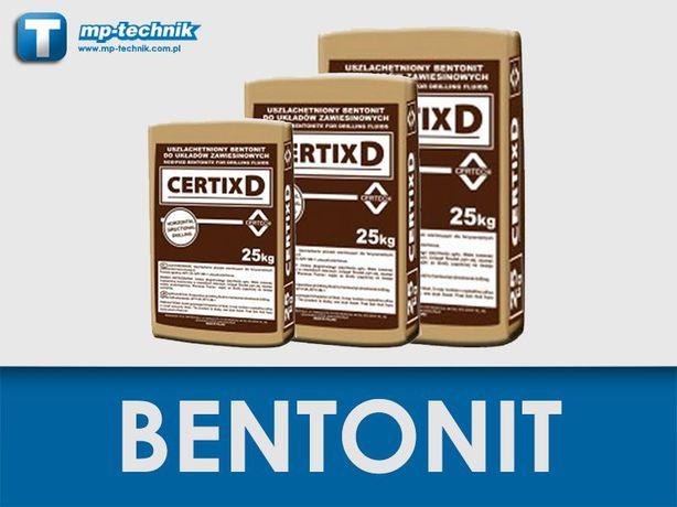 Bentonit wiertniczy Certix D, płuczka wiertnicza, materiały płuczkowe
