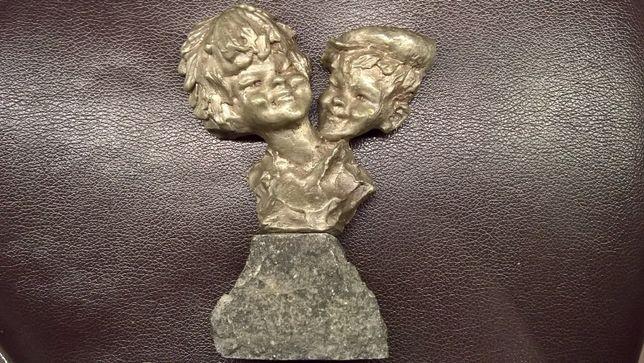 "Figura rzeźba ""mali Chińczycy"" E.Patris cynkal antyk 1950-59rok"