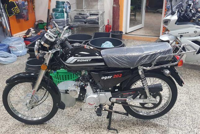 Romet Ogar 202FI Czarny 4T 50cc 2021r. Nowy! Salon! Gwarancja! Raty!