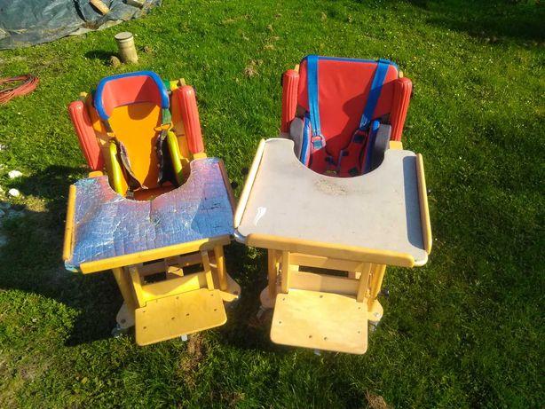 Krzesło rehabilitacyjne z blatem na kółkach