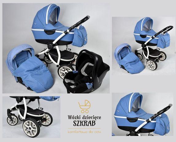 Wózek Bebetto Silvia 3w1 2w1 gondola, spacerówka, fotelik