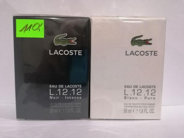 Lacoste L.12.12 Blanc 50 ml. i L.12.12 Noir 50 ml. 100% NOWE 100% ORYG