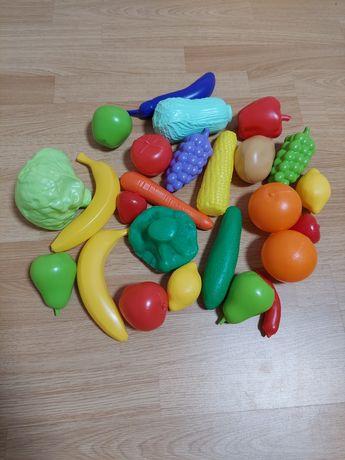 Игрушечный набор овощи фрукты