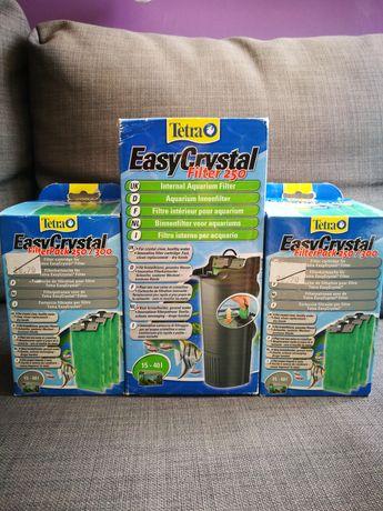Duży zestaw! Filtr Tetra EasyCrystal + zapasowe wkłady filtrujące.