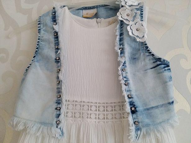 Sukienka z kamizelką r.110