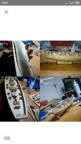 Model Statku drewnianego do złożenia + upgrade