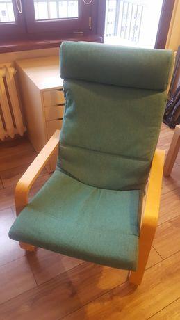 Ikea fotel kolor stara brzoza + gąbka zieleń