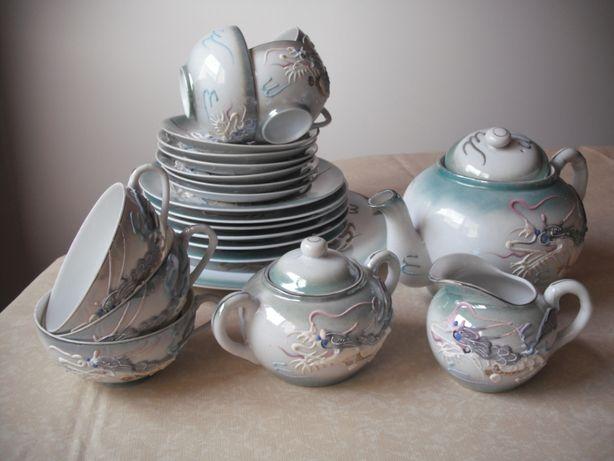 Outras - Colecções e Antiguidades- Serviço Vintage de Chá Dragão