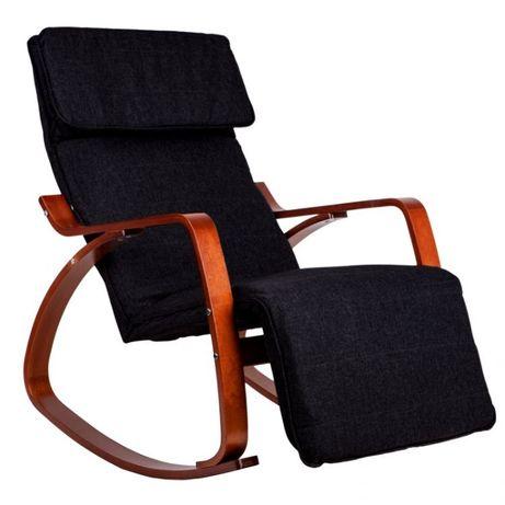 Fotel bujany czarny krzesło
