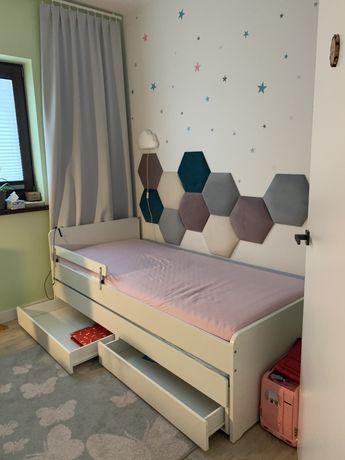 Ikea skalt łóżko wysuwane materac 90x200