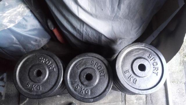 Siłownia obciążenie żeliwne 4x5kg Fi 31