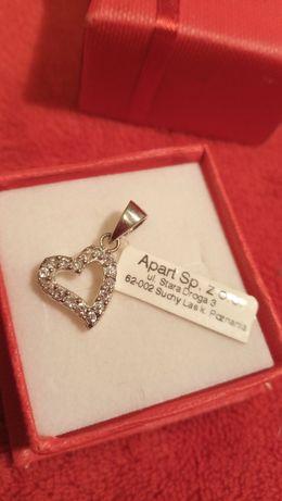 Prezent urodziny srebro 925 zawieszka srebrna wisiorek serce serduszko