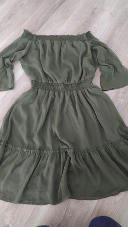 Sukienka hiszpanka, Khaki MOHITO r.40