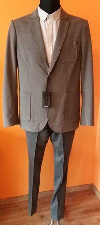 Nowy modny Garnitur Męski RESERVED Slim Fit marynarka spodnie koszula