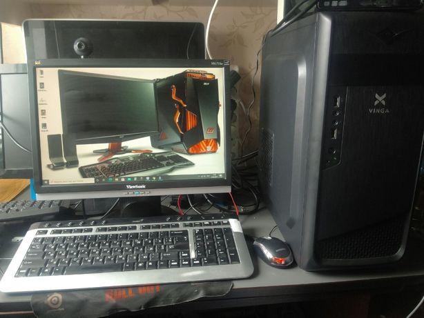 компютер для геймеров с монитором DDR4