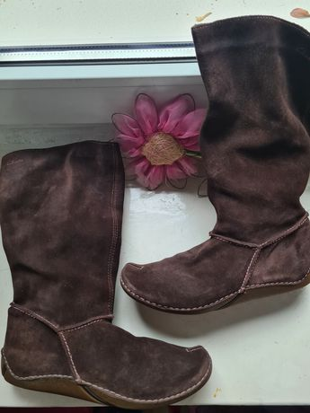 Kozaki buty wysokie zamszowe clarks r.33 1f