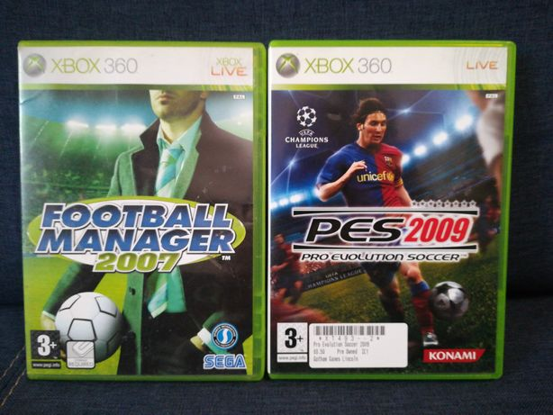 Xbox 360 PES 2009 i Football Manager 2007